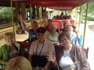 Seniors on a train